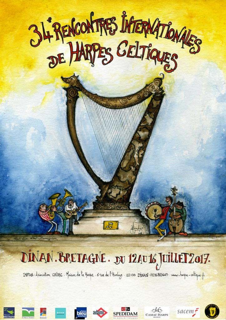 affiche harpe